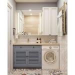Louvered Bathroom Cabinet